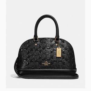 Small signature leather handbag